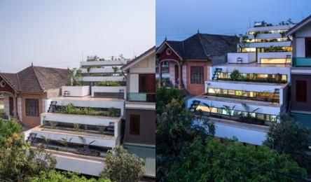 Nhà phố 'ruộng bậc thang', 'công viên' trên mái cực độc